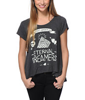 Glamour Kills Dreamers Club Charcoal Top