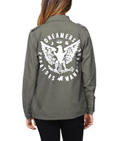 Glamour Kills Eagle Crest Green Military Jacket