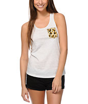 Glamour Kills Feral Pocket Cream Tank Top