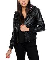 Glamour Kills Flower Child Leather Bomber Jacket