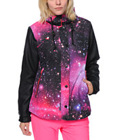 Glamour Kills Freshies Pink Galaxy 10K Snowboard Jacket 2014