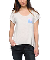 Glamour Kills Galactic Pocket Natural Drape Tee Shirt