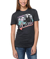 Glamour Kills Greetings From Death Charcoal Tee Shirt