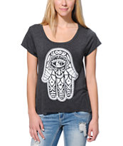 Glamour Kills Hamsa Charcoal T-Shirt
