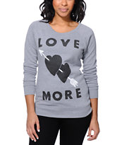Glamour Kills Heart Shot Grey Crew Neck Sweatshirt