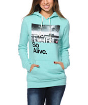 Glamour Kills Hunting To Feel Blue Mint Pullover Hoodie