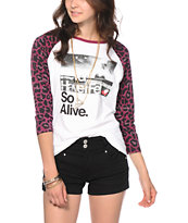 Glamour Kills Hunting To Feel Leopard Print Baseball Tee