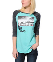 Glamour Kills Hunting To Feel Mint & Charcoal Baseball Tee Shirt