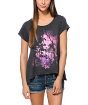 Glamour Kills Infinite Galaxy Charcoal Drape Top