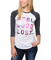 Glamour Kills Infinitely Lost Galaxy Charcoal Baseball Tee Shirt
