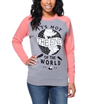 Glamour Kills It's Not The End Two Tone Crew Neck Sweatshirt