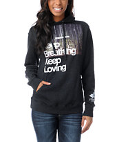 Glamour Kills Keep Breathing Charcoal Pullover Hoodie