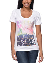 Glamour Kills Like A Dream White Scoop Neck Tee Shirt