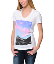 Glamour Kills Lost Adventures White V-Neck T-Shirt