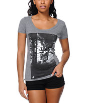Glamour Kills Lost In Dreams Grey Scoop Neck Tee Shirt