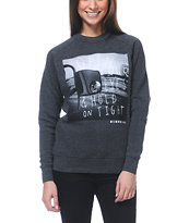 Glamour Kills Open Your Eyes Charcoal Crew Neck Sweatshirt