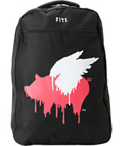 Glamour Kills Pigs Black Laptop Backpack