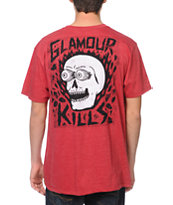 Glamour Kills Skull Eyes Red Tee Shirt