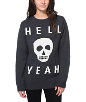 Glamour Kills Skull Yeah Charcoal Sweater