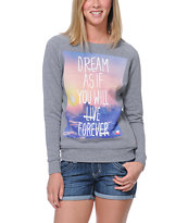 Glamour Kills Skyline Live Grey Crew Neck Sweatshirt