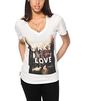 Glamour Kills Take What You Love V-Neck Tee Shirt