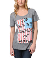 Glamour Kills Teenagers Of America Grey Tee Shirt
