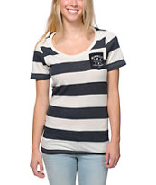 Glamour Kills The Scout Natural & Black Stripe Pocket Tee Shirt