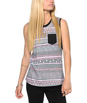 Glamour Kills Tribal Print Muscle T-Shirt