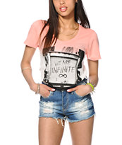 Glamour Kills We Are Infinite Dip Dye Tee Shirt