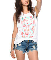 Glamour Kills Young Wild Floral Box Muscle T-Shirt