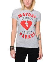 Glamour Kills x Mayday Parade Heather Grey Tee Shirt