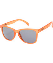 Glassy Deric Clear Orange & Grey Mirror Sunglasses