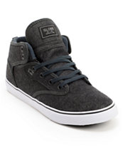 Globe Motley Mid Black Denim Skate Shoes