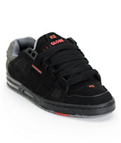 Globe Sabre Black, Charcoal, & True Red Skate Shoe