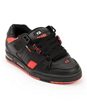 Globe Sabre Black & Fiery Red Skate Shoe