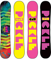 Gnu Ladies Pickle PBTX 144 Girls 2014 Snowboard