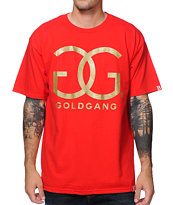 Gold Gang x Breezy Excursion GG Gold Gang Red Tee Shirt