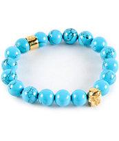 Gold Gods Pharaoh Turquoise Gemstone Bracelet
