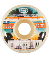 Gold Wheels Biebel Members Only 52mm Skateboard Wheels
