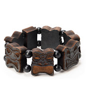 Goodwood NYC Black Totem Wood Bracelet