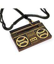 Goodwood NYC Ghetto Blaster Black & Gold Necklace