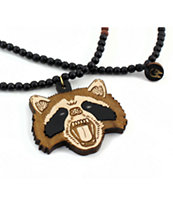 Goodwood NYC Rabid Raccoon Black Necklace