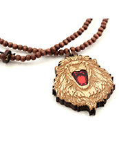 Goodwood NYC Roaring Lion Natural Red Necklace