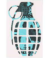 Grenade 8.5 Sharp Shooter Aqua Die Cut Sticker
