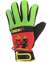 Grenade Bob Gnarly Rasta Men's Snowboard Pipe Gloves