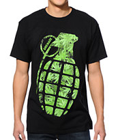 Grenade Burner Bomb Black & Green Tee Shirt