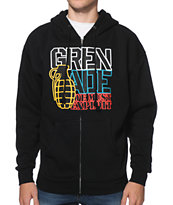 Grenade Color Logo Black Zip Up Hoodie