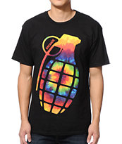 Grenade Far Out Bomb Black & Tie Dye Tee Shirt