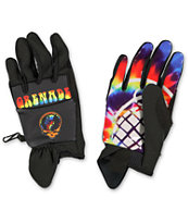 Grenade Grateful Shred Black CC935 Pipe Snowboard Gloves