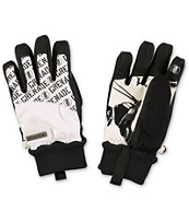 Grenade Huey White & Black Snowboard Gloves